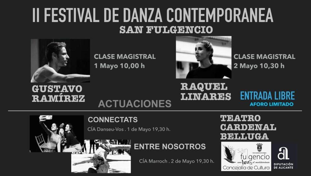 Gustavo Ramírez y Raquel Linares actuarán en el teatro Cardenal Belluga, además de impartir dos clases magistrales, los días 1 y 2 de mayo