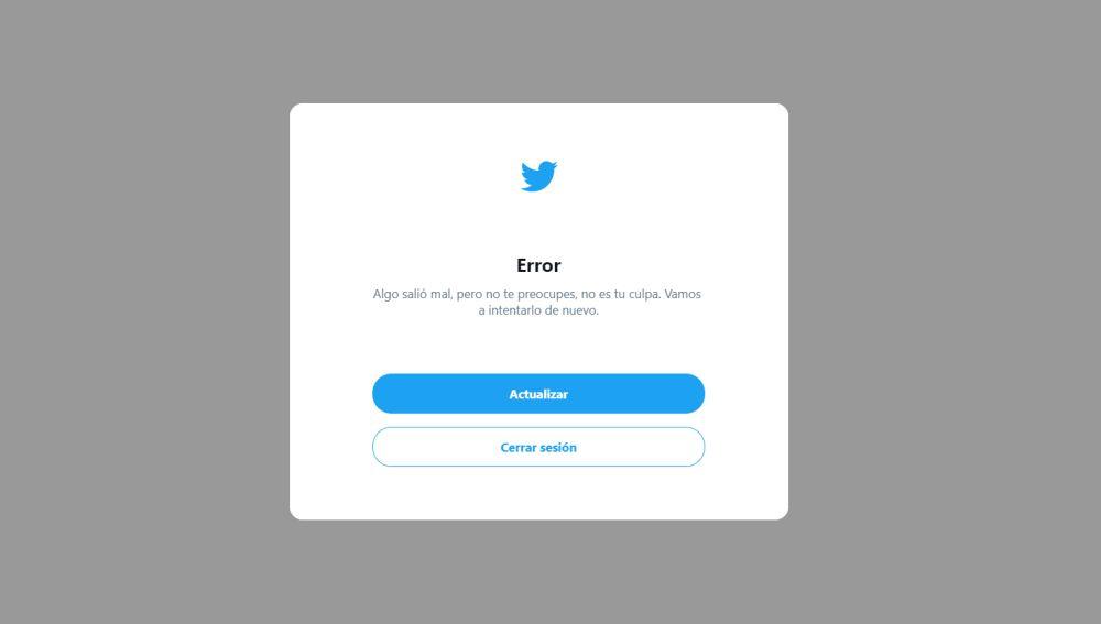 Twitter sufre una caída  y deja a miles de usuarios sin poder iniciar sesión