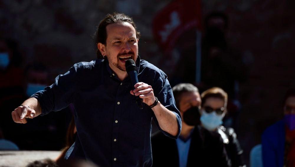 Pablo Iglesias, en un acto de precampaña en Alcalá de Henares