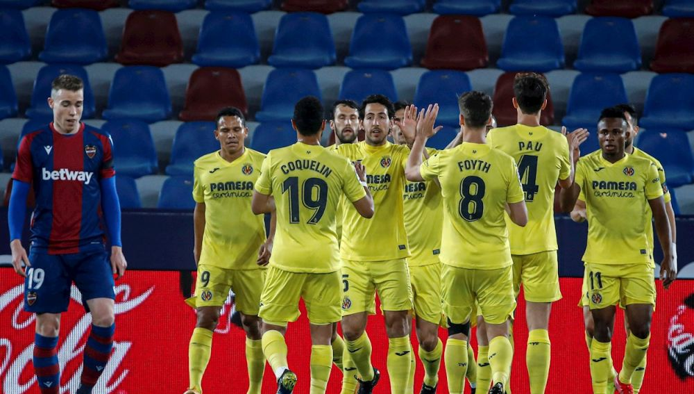 Levante 1- 5 Villarreal: El Villarreal asalta la quinta plaza a lo grande