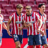 El Atlético de Madrid reivindica su liderato en Liga con una goleada al Eibar