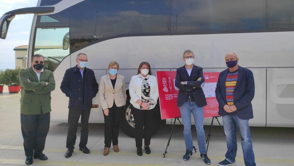 Presentación del servicio gratuito de transporte hasta La Ciudad de la Luz
