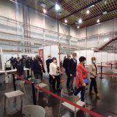 Visita a las instalaciones de la Ciudad de la Luz para la vacunación masiva