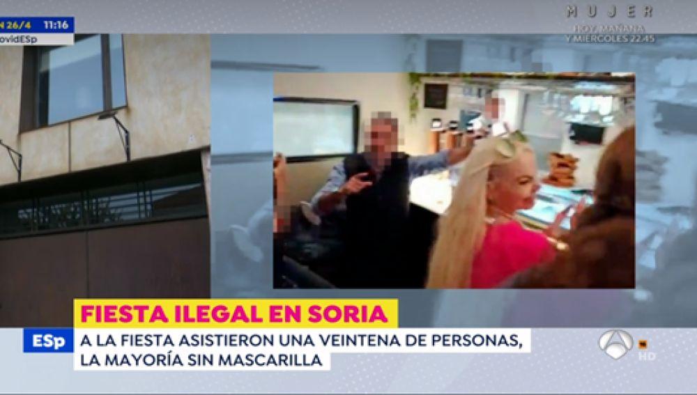 Salen a la luz las imágenes de la fiesta ilegal que ha provocado la dimisión del coordinador de Ciudadanos en Soria