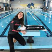 Isabel Sánchez-Arán se da un baño de medallas en el Campeonato de España Indoor de apnea.