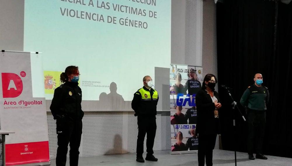 Sagunto ha formado en violencia de género a 40 agentes de Policía Local, Policía Nacional y Guardia Civil