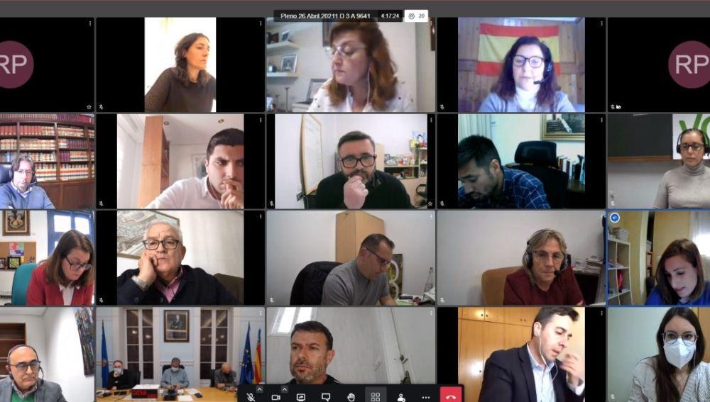 Pleno municipal telemático del Ayuntamiento de Crevillent.