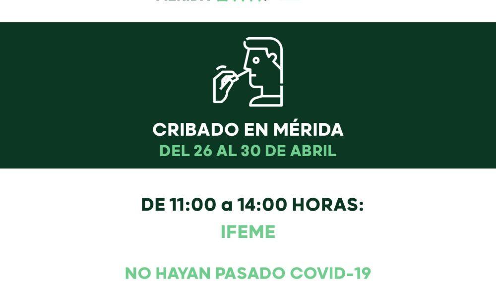 Cartel del cribado en Mérida