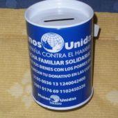 Una hucha de Manos Unidas