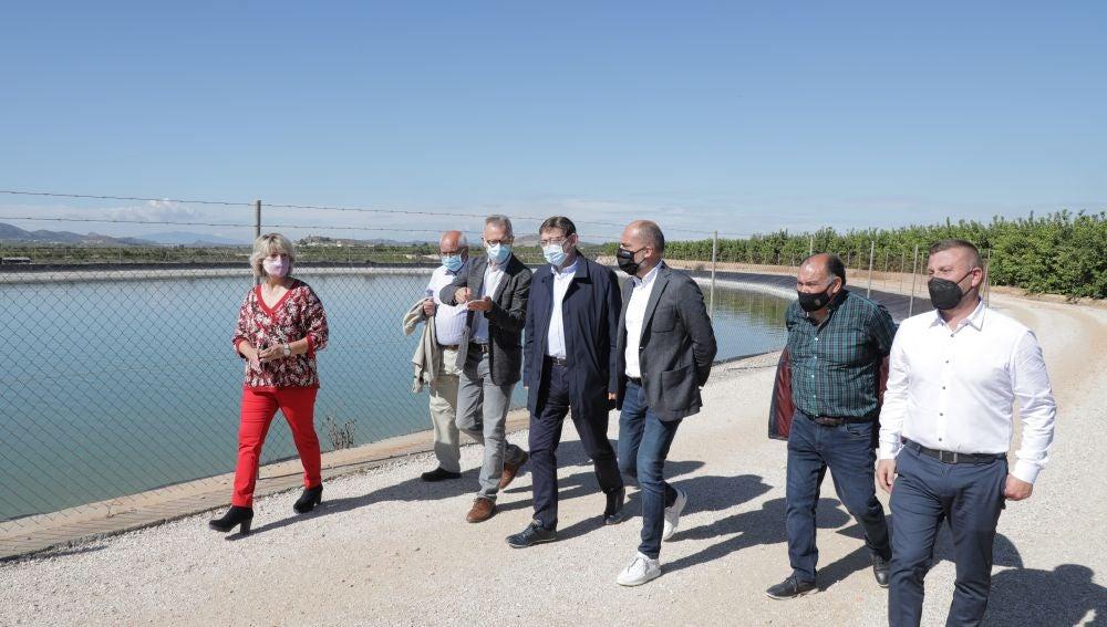 Puig durante un encuentro con regantes en Benferri