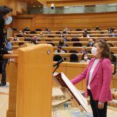 Aurelia Sánchez en el Senado