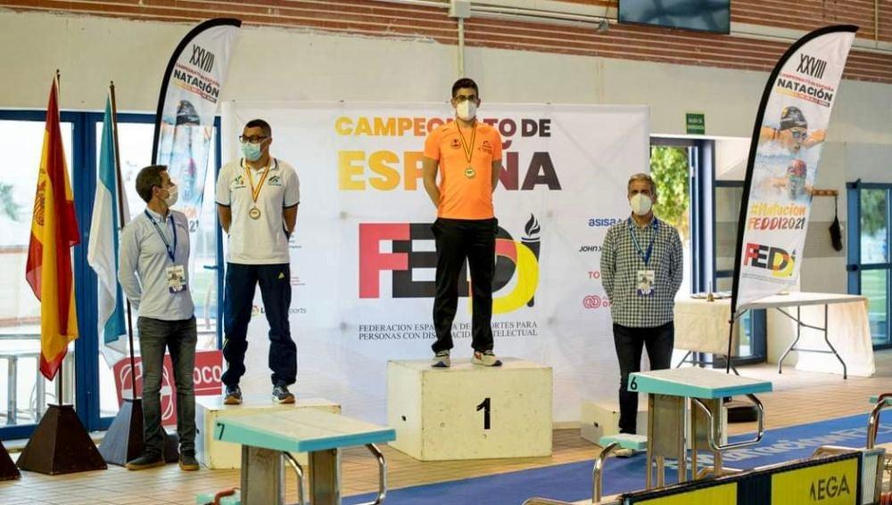 Luis Paredes suma tres oros y una plata en el Campeonato de España FEDDI.