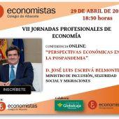 Jornadas organizadas por el Colegio de Economistas
