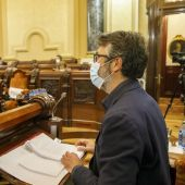 Villoslada en un pleno de A Coruña