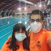 Josefa Marco y su hijo, el nadador Luis Paredes