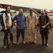 Migueltxo Molina, David Beriain y Roberto Fraile
