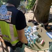 Laboratorio desmantelado en Valdepeñas por la Policía Nacional