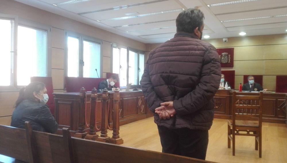 Los dos acusados durante el juicio celebrado en la Audiencia de Ciudad Real