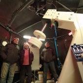 Fundación Astrohita colabora en el montaje de un nuevo telescopio