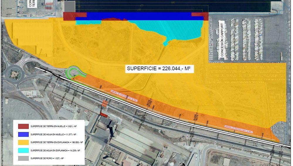 Valenciaport licitará la nueva terminal polivalente en el puerto de Sagunto que ocupará 226.000 m2