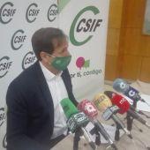 Carmelo Gómez durante la rueda de prensa en Ciudad Real