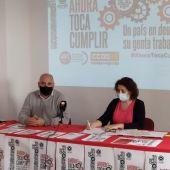 Secretarios comarcales de CCOO y UGT.