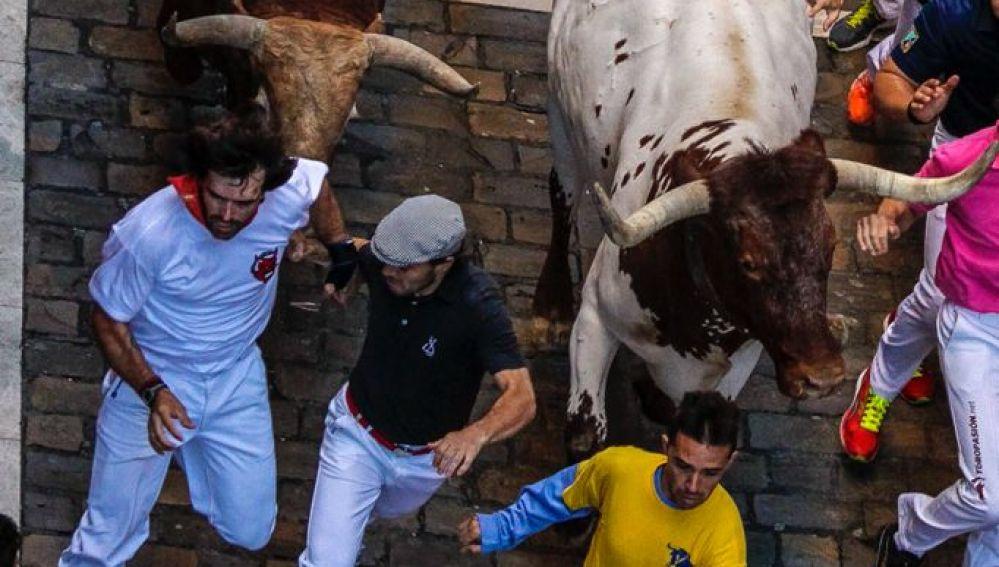 Imagen de archivo de un encierro en Pamplona