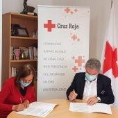 Firma convenio entre la Cámara y Cruz Roja