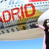 Isabel Díaz Ayuso en el acto de Iberia