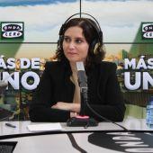 Isabel Díaz Ayuso en Más de uno