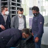 Autoridades en la Lonja de Villajoyosa