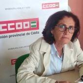 Lola Rodríguez, secretaria general de CCOO