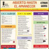 Programa de actividades de Abierto hasta el Amanecer