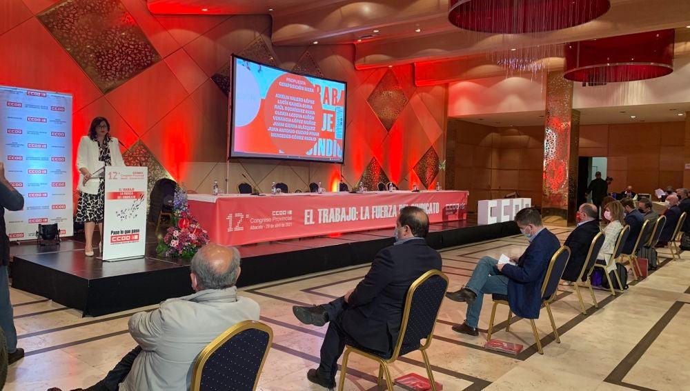 Carmen Justa, reelegida como Secretaria provincial de Comisiones Obreras
