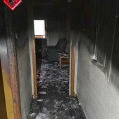 Vivienda de Petrer afectada por el incendio.