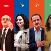 Los candidatos a las elecciones del 4M en la Comunidad de Madrid afrontan el último día de campaña