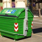 Contenedor de basura en Gijón
