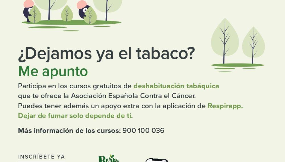 Abierto el plazo de inscripción del curso online para dejar de fumar