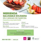 Merienda solidaria contra el cáncer en Cangas del Narcea