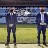 El Málaga recibirá medio millón de euros de la Diputación por la publicidad del pecho