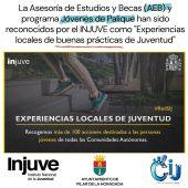 """El pasado mes, la concejalía de Juventud presentó al INJUVE en su convocatoria de """"experiencias locales de trabajo con jóvenes"""""""