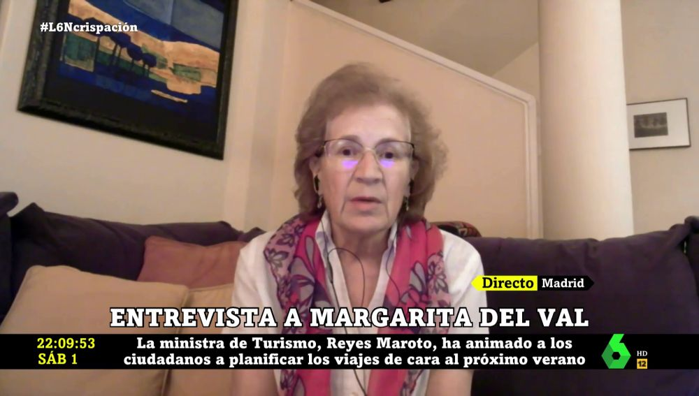 """Margarita del Val muestra su preocupación por la capacidad de contagio de los vacunados: """"Habrá algún susto"""""""