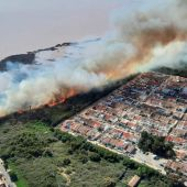 Afecta al Parque Natural Lagunas de la Mata, próximo a urbanizaciones de viviendas. El fuego ha obligado a activar el plan 1 del PEIF.