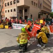 Concentración de trabajadores de Geacam en Albacete