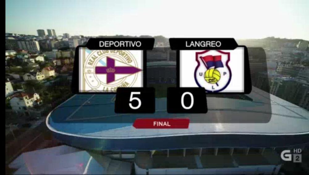 Deportivo 5-Langreo 0