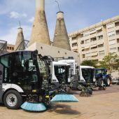 Vehículos de la nueva contrata de limpieza en Elche.