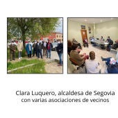 Clara Luquero se reúne con Varias asociaciones