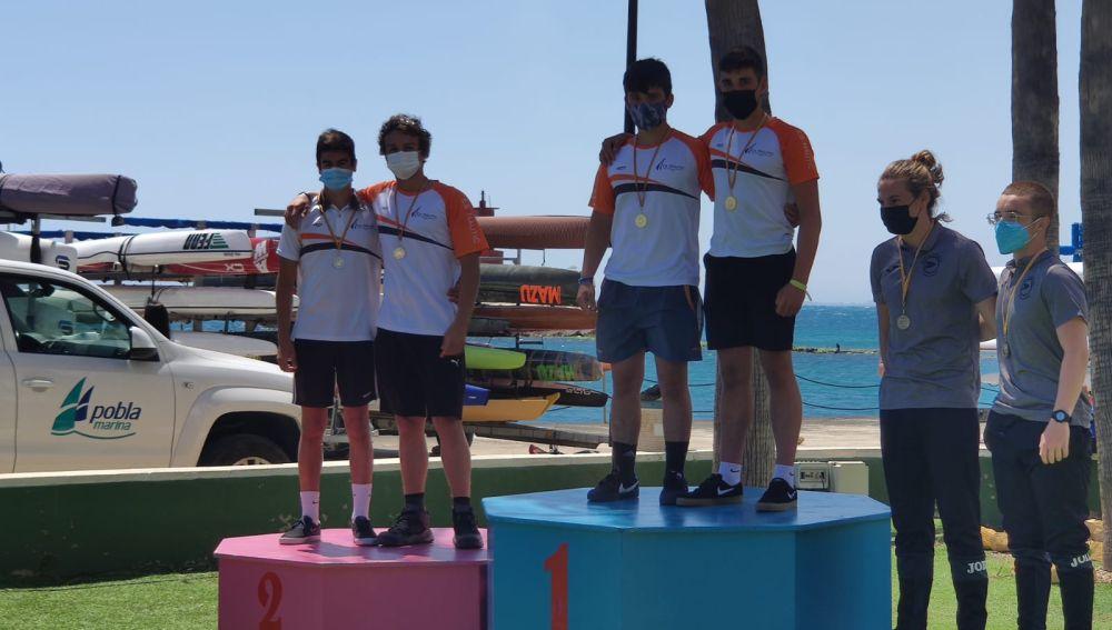 Los cadetes del CNSA logran cinco medallas en la 3ª Copa de España de Kayak de Mar
