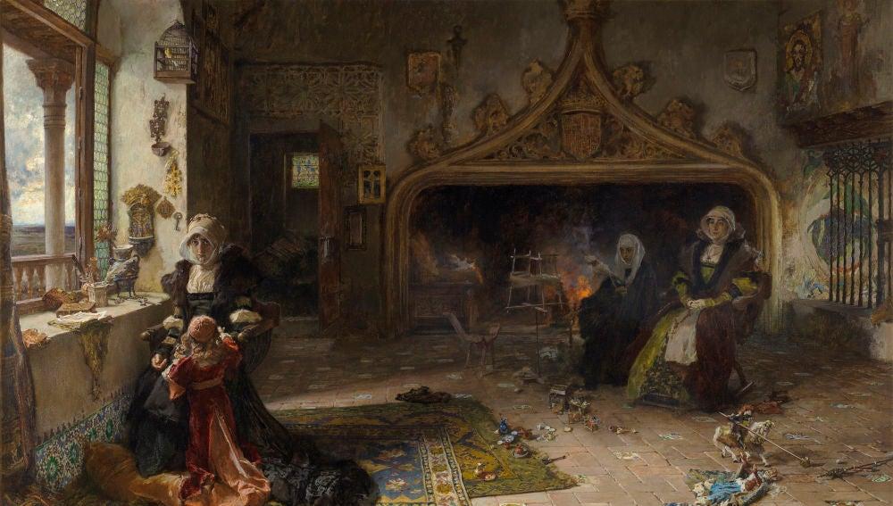 Uno de los cuadros que Pradilla dedicó a la reina Juana I de Castilla.
