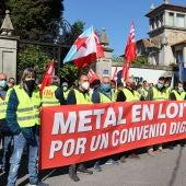 Protesta CIG meta, sede ASIME